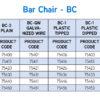 Bar Chair - BC Chart