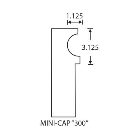 Stegmeier Wall Cap Form Mini Cap 300
