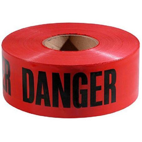 """Tape Danger 3"""" X 1000'"""