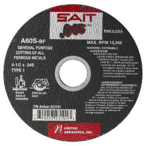 """Abrasive Mtl 4-1/2"""" X.045 Flat"""