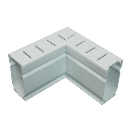 Deck Drain White 90 Degree