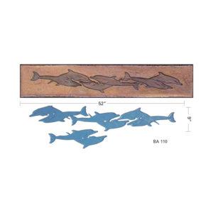 Proline Dolphins Border Art