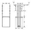 KC Metals Post Anchors Medium PAM44 specs