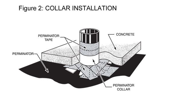 Vapor Barrier Perminator Collar Installation Drawing
